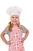 A girl chef | Stock Foto