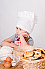 Girl chef | Stock Foto