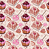 Vector clipart: Sweet pattern with cakes