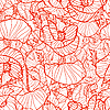 Vector clipart: Pattern with poppies