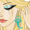 Vector clipart: Girl with Earring