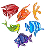 Vector clipart: Rainbow emotional fish