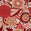 Red floral pattern | Stock Vector Graphics