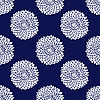 Simple blue flower pattern