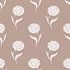 Vector clipart: Simple brown flower pattern