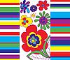 Векторный клипарт: Яркий цветочный дизайн