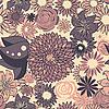 Векторный клипарт: Бесшовный цветочный узор в пастельных тонах
