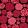 Vector clipart: Pattern with red roses
