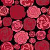 Векторный клипарт: фон с красными розами