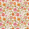 Pattern with flowers | Stock Vector Graphics