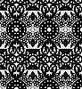 Векторный клипарт: Кружева с кругами и цветы