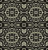 Векторный клипарт: Черное кружево бесшовные на желтом фоне
