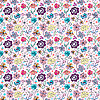 Vector clipart: Lovely seamless cartoon flowers