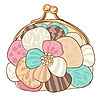 Vector clipart: Pretty purse with pastel colors