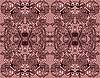 Векторный клипарт: Бесшовные кружевные бордовый на розовом фоне