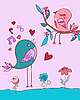 Vector clipart: Love bird song