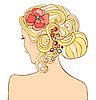 Vector clipart: Woman with wedding hairstyle