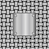metal plate on seamless metal grid texture
