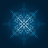 Vector clipart: highly detailed blue snowflake
