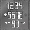 Metal numbers | Stock Vector Graphics
