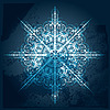 Highly detailed grungy snowflake | Stock Vector Graphics