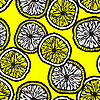 Vector clipart: seamless background with lemon slices