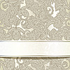 seamless paisley background with ribbon