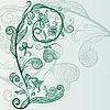 Vector clipart: flowers, snail, butterfly
