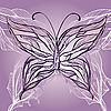 Vector clipart: beautiful butterfly in vintage style
