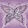 Векторный клипарт: красивая бабочка в винтажном стиле