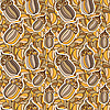 seamless background with acorns and oak leaves