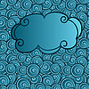 Vector clipart: cloud on abstract seamless background with swirls