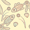 Vector clipart: henna fishes