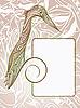 Векторный клипарт: рамка с дятлом