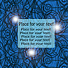 Vector clipart: abstract blue backgrouns with text