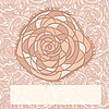 Vector clipart: rose on seamless background