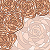 Vector clipart: background with roses in stained glass style