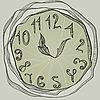 Векторный клипарт: часы, винтажный стиль