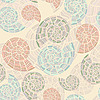 seamless background with sea shells