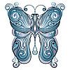 Vector clipart: blue butterfly
