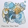 Vector clipart: fish on splash of water