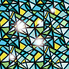 Vector clipart: seamless stained-glass window abstract background
