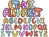 Векторный клипарт: ethinic латинского алфавита