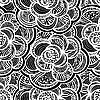 monochrome floral background with flowers