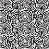 Векторный клипарт: бесшовный фон с абстрактными монохромный ломтиками лимона