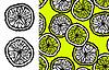 ломтики лимона и бесшовный фон
