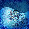 Векторный клипарт: бесшовные весной цветочным узором в синих