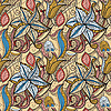 Векторный клипарт: бесшовных рисованной цветочным узором