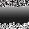 Векторный клипарт: цветочный фон с нереальными растения, горизонтально бесшовные,