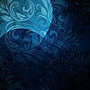 Vector clipart: background with seamless floral pattern in blue